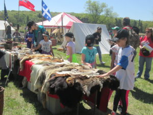 Animal pelts are always a hit with kids!
